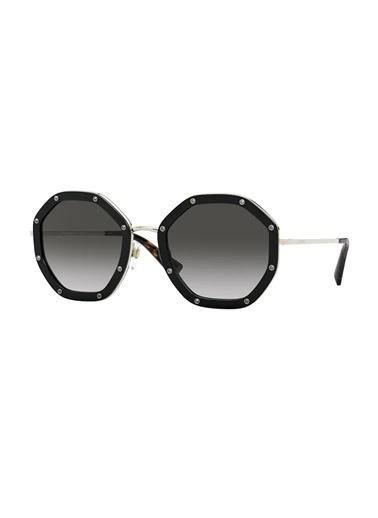 Valentino Valentino Va2042 30038G 55 Ekartman Kadın Güneş Gözlüğü Siyah